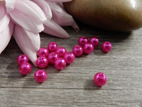 Akryylihelmi, 4mm, pinkki, 50kpl