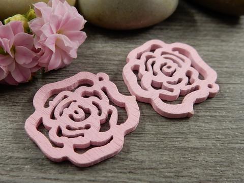 Puuriipus kukka, 25mm, vaaleanpunainen, 1kpl