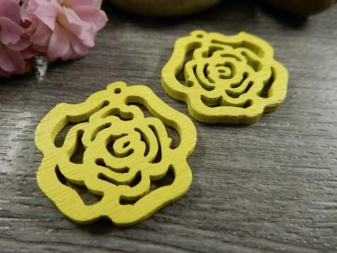 Puuriipus kukka, 25mm, keltainen, 1kpl
