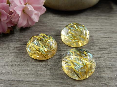 Kapussi hile, 12mm, keltainen-kulta, 1kpl