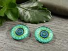 Kapussi ympyrä, 12mm, vihreä, 1kpl