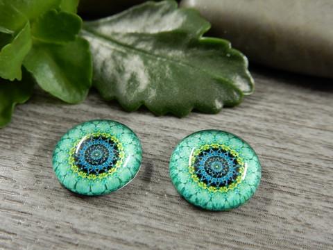 Kapussi ympyräkuvio, 12mm, vihreä, 1kpl