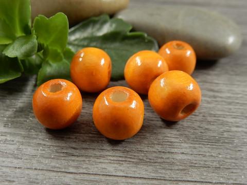 Puuhelmi, 10x8.5mm, oranssi, 1kpl