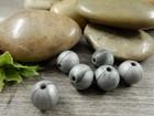 Silikonihelmi, 9mm, tummanharmaa marmori, 1kpl