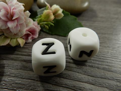 Kirjainhelmi Z, 12mm, valkoinen, 1kpl