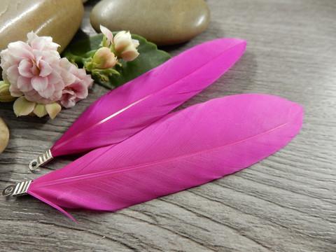 Hanhen sulka/höyhen , n.7cm, pinkki, 1kpl