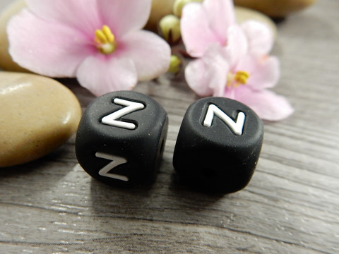Kirjainhelmi Z, 12mm, musta, 1kpl