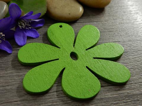 Puuriipus kukka, 50x50mm, vihreä, 1kpl