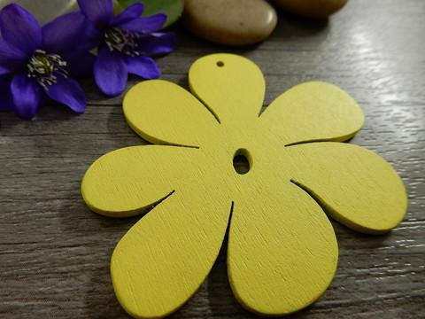 Kukkariipus, 50x50mm, keltainen, 1kpl