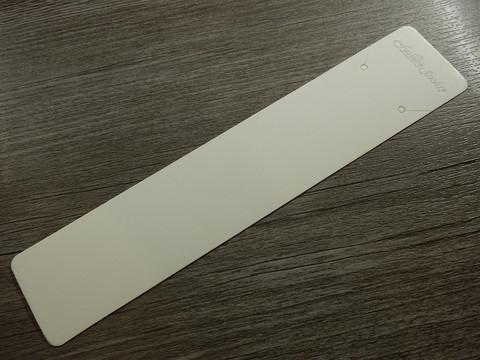 Korvakoru/kaulakorukortti, 19x4cm, valkoinen, 1kpl
