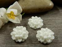 Kapussi kukka, 12mm, valkoinen, 1kpl