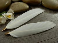 Hanhen sulka/höyhen , n.7cm, valkoinen, 1kpl