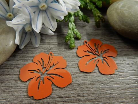 Kukkariipus, 19x20mm,oranssi, 1kpl