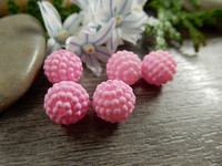 Akryylihelmi vadelma, 10mm, vaaleanpunainen, 1kpl