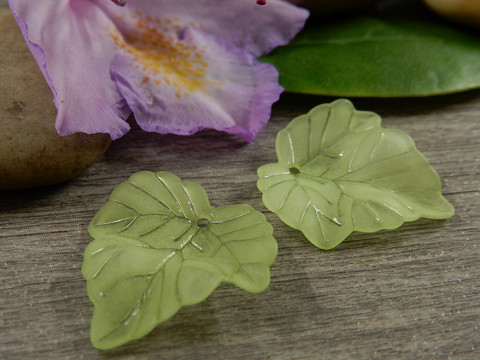 Lehtiriipus, 23x21mm, vaaleanvihreä, 1kpl