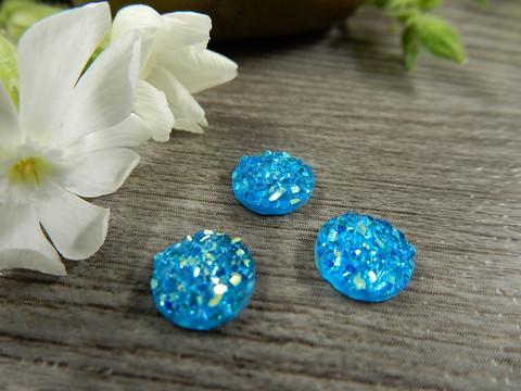 Kapussi glitter, 8mm, sininen, 1kpl