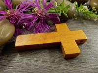 Puuriipus risti, 42x25mm, ruskea, 1kpl