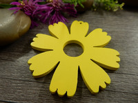 Puuriipus kukka, 48x49mm, keltainen, 1kpl