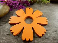 Puuriipus kukka, 48x49mm, oranssi, 1kpl