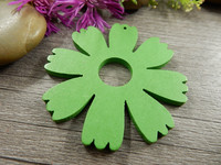 Puuriipus kukka, 48x49mm, vihreä, 1kpl