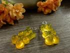 Nalleriipus glitter, 21x11mm, kelta-oranssi, 1kpl