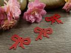 Rusettiriipus, 11x14mm, punainen, 1kpl