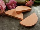 Puoliympyrä puuhelmi, 31x15mm, vaaleanpunainen, 1kpl