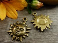 Aurinkoriipus, 21x17mm, pronssi, 1kpl