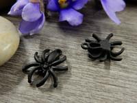 Hämähäkkiriipus, 17x14mm, musta, 1kpl