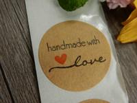 Handmade with love tarra, 25mm, ruskea, 10kpl