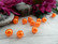 Akryylihelmi, 6mm, oranssi, 20kpl