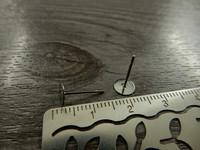 Korvakorutappi, 6x13mm, rst, 5paria