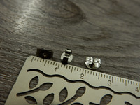 Korvakorun lukko, 6x4.5mm, rst, 10kpl