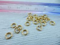 Tuplavälirengas, 5mm, kulta, 100kpl