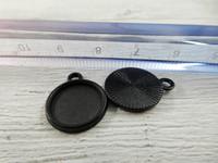 Kapussipohja, 12mm, musta, 1kpl