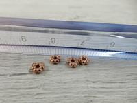 Akryylihelmi välihelmi, 4mm, ruusukulta, 50kpl