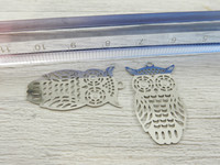 Pöllöriipus, 28x15mm, rst, 1kpl