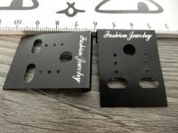 Korvakorukortti, 3.7x3cm, musta, 1kpl
