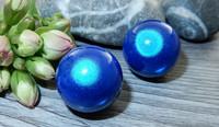 Heijastava helmi, 18mm, sininen,1kpl