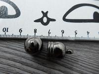 Holkki, 12x18mm, gunmetal, 1kpl