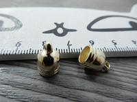 Holkki, 8x12mm, vaaleakulta, 1kpl