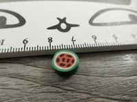 Fimohelmi, 10mm, vesimeloni, 1kpl