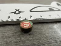 Fimohelmi, 10mm, ruusu, 1kpl