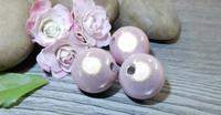 Heijastava helmi, 14mm, vaaleanpunainen, 1kpl