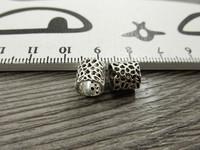 Metallihelmi/ hela, 8x7.5mm, kromi, 1kpl