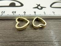 Helmikehys, 12x13mm, kulta, 1kpl