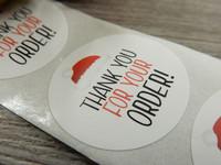 Thank you for your order tarra, 25mm, joulu, 10kpl