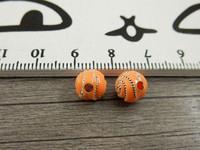 Akryylihelmi kierre, 8mm, oranssi, 20kpl