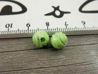 Akryylihelmi kierre, 8mm, vihreä, 20kpl