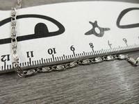 Ketju kuvio, 2.5x6.5mm, kromi, 1m